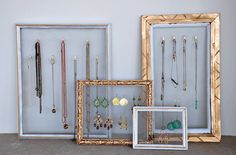 34 Ways to Store Jewelry - some great ideas for craft booth/table displays