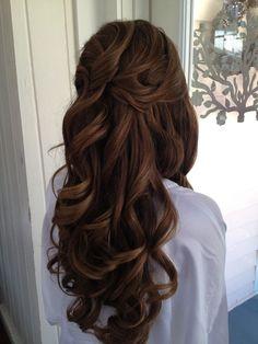 Wedding Hair Down Wedding hair Jacksonville fl. Elegant Wedding Hair, Wedding Hair Down, Bride Hairstyles, Down Hairstyles, Bridal Hair And Makeup, Hair Makeup, Wedding Makeup, Medium Hair Styles, Long Hair Styles