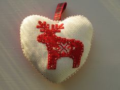 cross stitched moose
