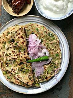 The delightful winter special of stuffed peas parantha. Like they say, no one can eat just one :)