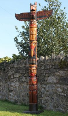 American Indian Wooden Bird Totem Pole 300cm | Fair Trade Gift Store | Siiren