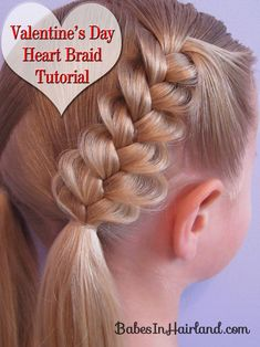 Heart Braids - Valentine's Day Hairstyle from BabesInHairland.com #hearts #braids #valentinesday #hairstyles