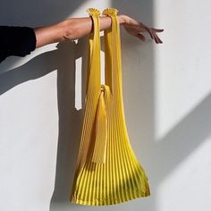 """1,202 Likes, 8 Comments - Oracle Fox Journal (@oraclefoxjournal) on Instagram: """"Japanese biodegradable pleated bag by @knaplus v @nu_swim """""""