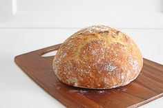 Crusty, Rustic, No Knead Bread (aka the easiest bread you'll ever make)...Easy rustic no-knead bread that's sturdy enough to handle any mix-ins you can think of (like cheese, roasted garlic, or rosemary)