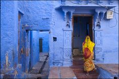 A House in a street of Jodhpur, the Blue city of Rajasthan | by Claude Renault