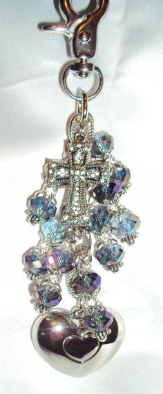 Cross or fleur de lis available. www.divadangles.com