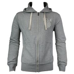 UCLA Woodard Mens Sweat Hoody in Grey Marl - for that chilly walk to the gym. For affordable designer fashion visit www.hypedirect.com