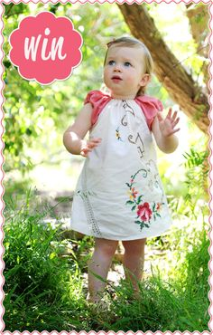 GIVEAWAY - Beautiful Embroidered Tablecloth Dress by Greta Kids | KID independent – handmade for kids