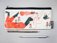 Pencil Case Illustrated by Malota made by Tyvek by niwawool.