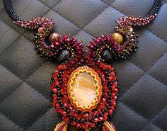Red Hyacinth Sunshine Beauty Necklace di ARTSTUDIO51 su Etsy
