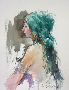 There are still openings in the Janet Rogers' Workshop . Watercolor Canvas, Watercolor Artists, Watercolor Drawing, Watercolor Portraits, Watercolor Paintings, Watercolours, Human Painting, Back Painting, Watercolour Tutorials