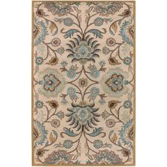 Amanda Hand-tufted Ivory Floral Wool Rug (5' x 7'9)   Overstock.com Shopping - The Best Deals on 5x8 - 6x9 Rugs