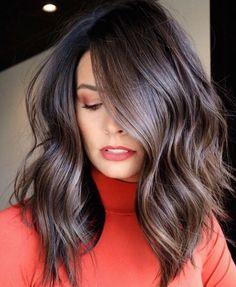 Medium Shaggy Haircut with Waves Medium Hair Cuts, Long Hair Cuts, Medium Hair Styles, Curly Hair Styles, Medium Shaggy Haircuts, One Length Haircuts, Best Ombre Hair, Textured Haircut, Glam Hair