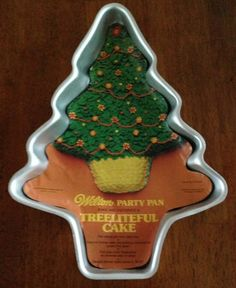 Vintage Wilton Cake Pan Treeliteful Party Pan Bake Ware Christmas Tree 1972 New
