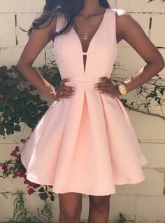 Simple Prom Dresses, new arrival pink homecoming dress satin short prom dress , From petite prom dress styles to plus size prom dresses, short dress to long dresses and more,all of the 2020 prom dresses styles you could possibly want! Elegant Homecoming Dresses, Pink Prom Dresses, Dresses For Teens, Trendy Dresses, Party Dresses, Prom Gowns, Dress Prom, Skater Dress, Dresses Dresses