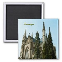 Apollinaris Church in #Remagen, #Germany Fridge #Magnet