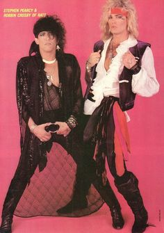 Stephen Pearcy and Robbin Crosby of Ratt