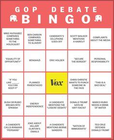 #GOP #republicans #debate #bingo
