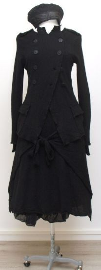 round wood - black cashmere dress with Cacheur - Winter 2015