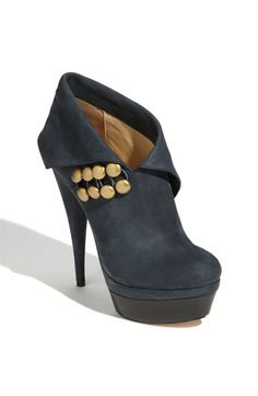 Rachel Zoe Bella Bootie- asymmetric cuff with a little gold hardware, don't mind if I do? only problem $425