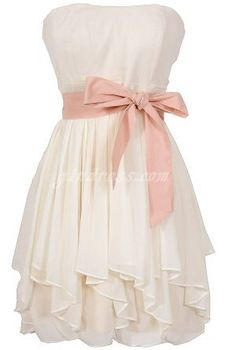 Would be pretty gray with a coral sash! Bridesmaid Dress Bridesmaid Dresses
