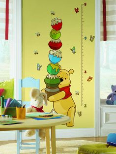 "Disney ""Pooh"" Wall Decal Growth Chart"