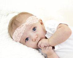 Pink Baby Headband, Infant Headband, Lace Headband, Turban Headbands Baby Girl Headbands Twist Headband, Newborn Headband Toddler Baby Gift