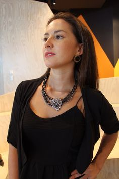 TCF 'Miami' earrings and 'Celin' necklace are a perfect pair!    theclassicfuture.com Miami, Pairs, Chain, Earrings, Style, Fashion, Ear Rings, Swag, Moda