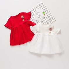 Flare Short Sleeves Princess Dress For Baby Girls Baby Girl Dresses, Baby Dress, Baby Girl Newborn, Baby Girls, Fashion Project, Blouses For Women, Cute Babies, Kids Outfits, Short Sleeves