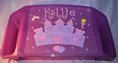 Kids Lap Tray  Princess Hand Painted and by confettigiftsbyg, $22.00