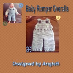 Angie's Attic: Baby Romper Overalls