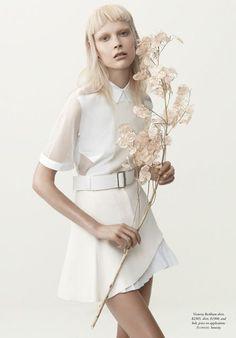 'The White Albume' Henna Lintukangas by Georges Antoni for Harper's Bazaar Australia [Editorial] - Fashion Copious