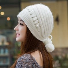 Kagenmo Winter hat female knitted hat autumn and winter fashion ear women's toe cap covering cap new brand female warm beanies