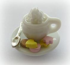 Miniature Cookie Cutter makes cute DIY cookies for your dollhouse. This coffee cup is scale 1:12