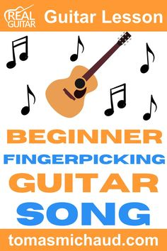 Do you want to learn how to play an easy fingerpicking song for guitar? This song is perfect for beginners because you will get the opportunity to practice different chords while also playing an easy, beautiful song. Grab your acoustic guitar, and let's get playing! #beginnerguitar #playguitar #learnguitar #fingerstyleguitar #fingerpickingguitar #guitarsongs Guitar Tabs For Beginners, Learn Guitar Beginner, Guitar Chords Beginner, Learn Acoustic Guitar, Learn To Play Guitar, Jazz Guitar, Acoustic Guitars, Easy Guitar Tabs, Easy Guitar Songs