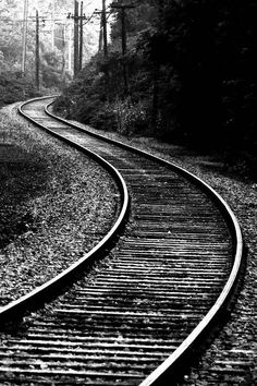 Old train tracks Landscape Photography, Nature Photography, Alphabet Photography, Old Steam Train, Train Art, Old Trains, Train Tracks, Black And White Photography, Railroad Tracks