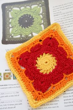 189 Willow. Pattern available from book - 200 crochet blocks