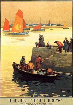 Ile Tudy - (Finistère - Bretagne) by Charles Allo (1925)