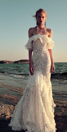 Wedding Dress: Christos Costarellos