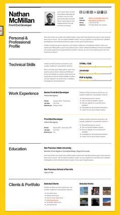10 beautiful resume html templates - Beautiful Resume Templates