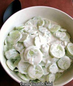 Creamy Cucumber Salad – Easy Recipes