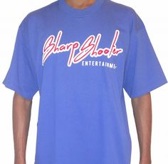 Sharp Shooter Entertainment Blue & Red T-Shirts + Sizes – Available in sizes 3XL 4XL 5XL 6XL