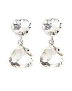 Y2EV0 Kenneth Jay Lane Crystal Pear Drop Earrings