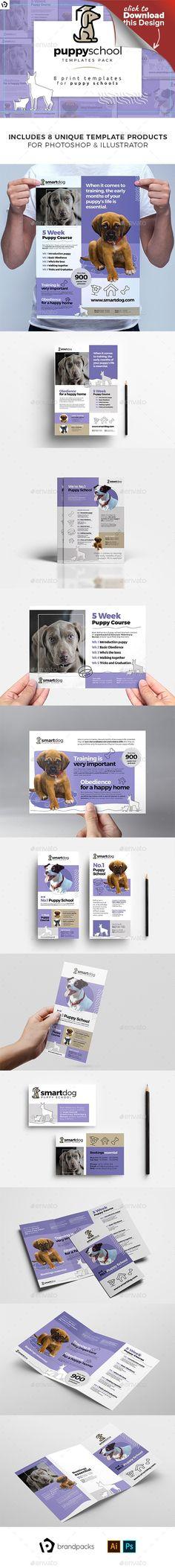 ai, BrandPacks, business card, Dog trainer, dog training, dog walker, dog walking, flyer, flyer design, flyer template, illustrator, leaflet, pamphlet, pet school, pet trainer, pet training, photoshop, poster, poster template, psd, puppy school, puppy school template, tri fold brochure, trifold brochure, vector, vet, vet clinic, vets Puppy School Templates Bundle for Adobe Photoshop & Adobe Illustrator   Create professional print advertisements, posters & flyers for puppy schools, ...