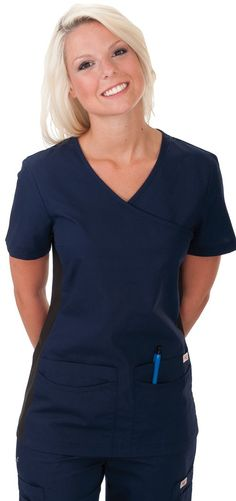 Professional Choice Uniforms Store - Nursing Uniforms in Canada - 595 Body Flex Mock Top, $19.50 (http://www.professionaluniform.com/body-flex-scrubs/595-body-flex-mock-top/)