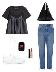 """""""Untitled #39"""" by peterpan130395 ❤ liked on Polyvore featuring Maison Margiela, Miss Selfridge, MM6 Maison Margiela, adidas, Ila, Gucci and Chanel"""