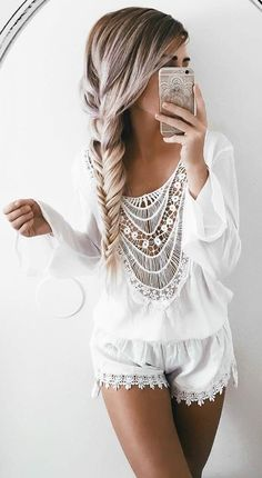 #summer #ultimate #outfits | White Playsuit