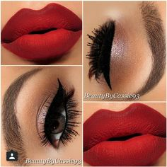Eye Makeup for Red Lips 4