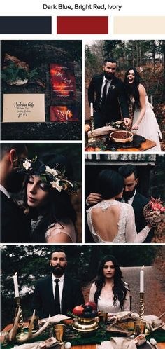 Junebug Weddings has put together 7 fall wedding color palettes. These warm colors and cozy wedding designs are sure to inspire a fall wedding date! Fall Wedding Colors, Wedding Color Schemes, Autumn Wedding, Cozy Wedding, Wedding Rustic, Trendy Wedding, Barn Wedding Decorations, Ethereal Wedding, Red Wedding Dresses