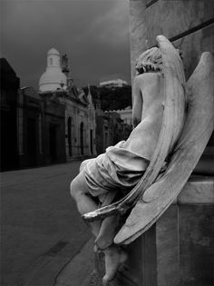 bohemianwaif:  (via silent-musings) La Recoleta Cemetery, Buenos Aries, Argentina. (Another view of the  angel here) .Thank you moonlitcorner.